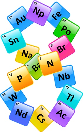 Pedic Table Of Elements Number 8 Stock Vector - 19939260