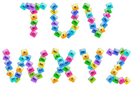 Periodic Table Of Elements Alphabet Letters T Z Royalty Free