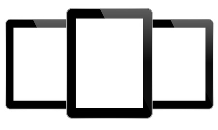Black Business Tablets Vector