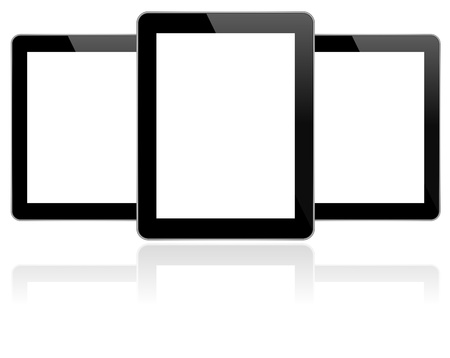 Business Tablets With Reflection Vector