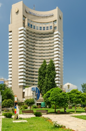 BUCHAREST, ROMANIA - JUNE 16: The Intercontinental Bucharest on June 16, 2013 in Bucharest, Romania. It is a highrise five star hotel situated near University Square and is also a landmark of the city Stock Photo - 20264831