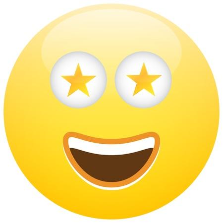 Smiley Face Emoticon Celebrity Star Illustration Concept Stock Vector - 20858368