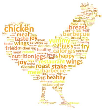 granja avicola: Rooster Palabra Nube Concepto de ilustración vectorial Vectores
