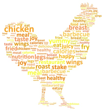 poultry farm: Rooster Word Cloud Concept Vector Illustration