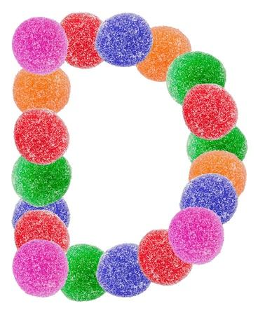 jellybean: Jelly Alphabet Letter D