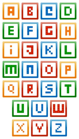 Building Blocks Alphabet Vector