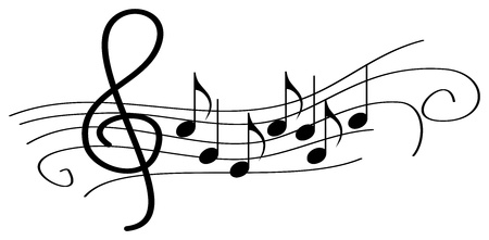 stave: Musical Notes On Stave Illustration