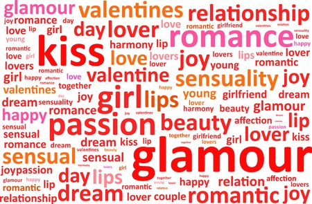 Glamour Word Cloud Vector Illustration Vector