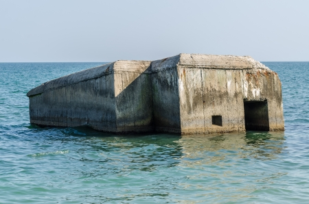 Abandoned World War Bunker Swallowed By Ocean photo