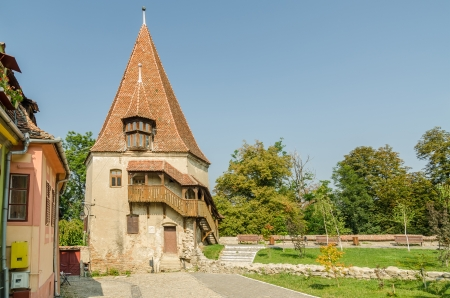 Built In 1681 The Shoemakers Tower Or Turnul Cizmarilor Is One Of The Oldest Buildings In Medieval City Sighisoara In Romania And Has Baroque Architectural Influences Editorial