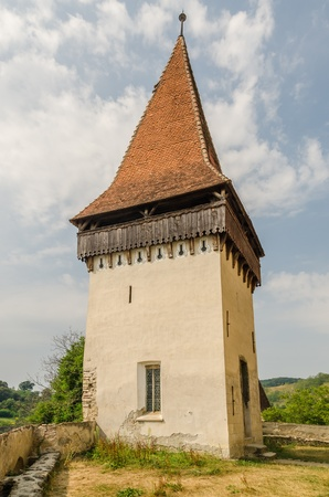 biertan: Old Evangelical Fortified Church In Biertan, Romania  It was built between 1490-1520 in Gothic style  Stock Photo