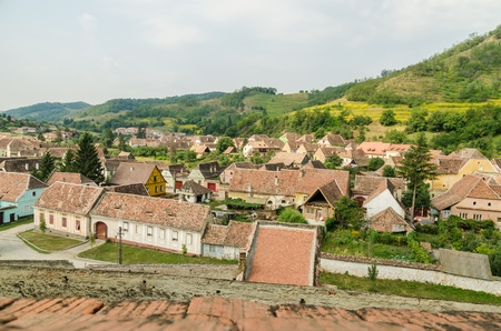 Medieval Mountain Town In Transylvania, Romania photo