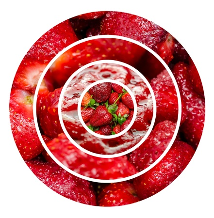 Strawberries Fruits Background Collage photo