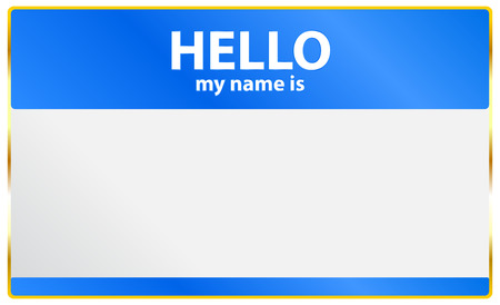 name tag: Hello My Name Is Card Illustration