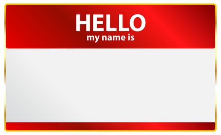 delegar: Hola mi nombre es tarjeta Vectores