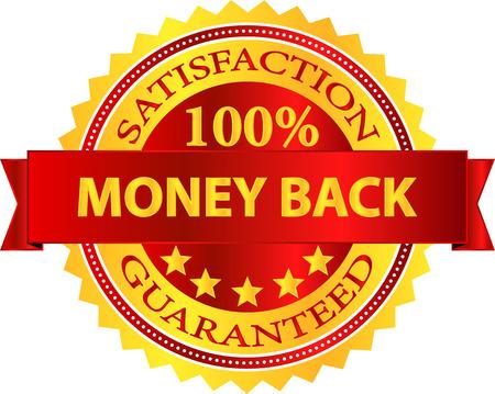 Geld terug tevredenheidsgarantie Badge Stock Illustratie