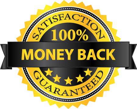 money back: Money Back Satisfaction Guaranteed Badge