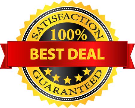 Best Deal Satisfaction Guaranteed Badge Stock Vector - 22384520