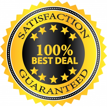 Best Deal Satisfaction Guaranteed Badge Vector