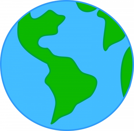 Child Drawing Sketch Of Planet Earth Vector