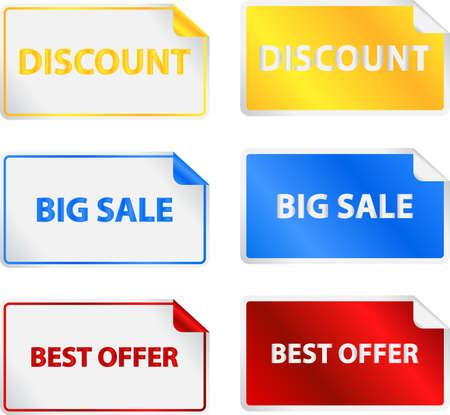 sale tags: Colored Sale Tags Labels Illustration