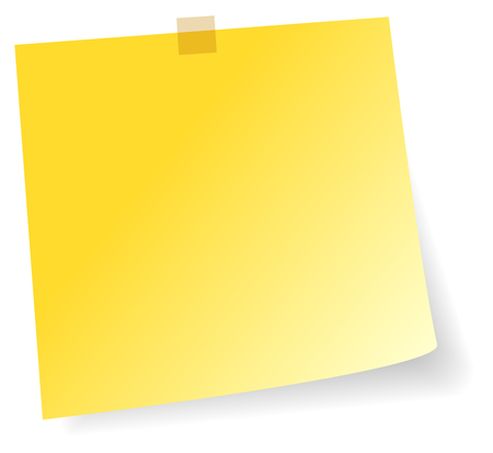 Adhesive Yellow Sticker Note Vector