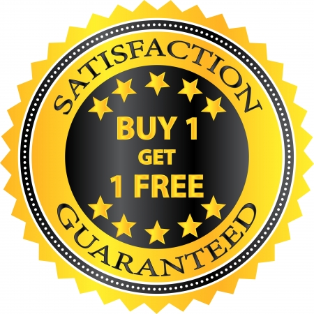 get one: Buy One Get One Free Retail Shopping Badge