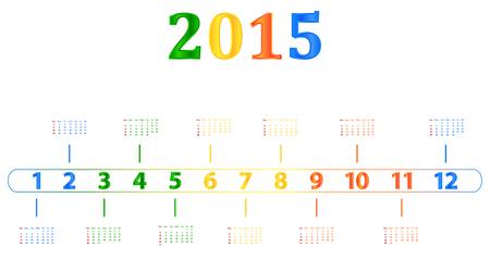 season specific: 2015 Calendar With Season Specific Colors