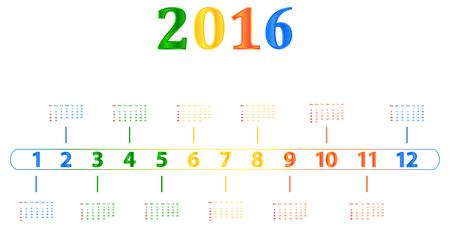 season specific: 2016 Calendar With Season Specific Colors