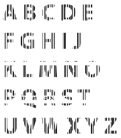 Business Bar Code Alphabet  Vector