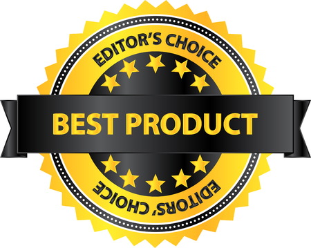 Editors Choice Best Product Of The Year Badge Vector
