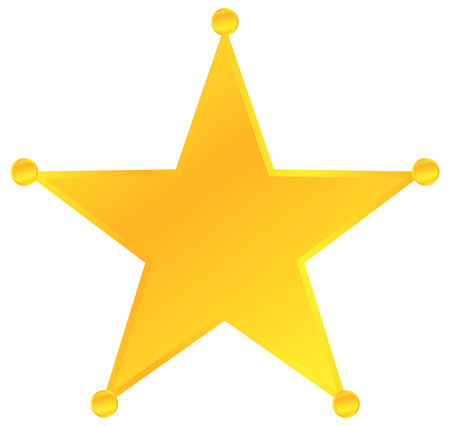 Golden Sheriff Star Badge Vector