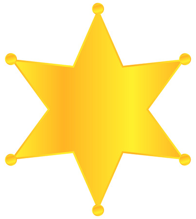 Golden Sheriff Star Badge Stock Vector - 22645288