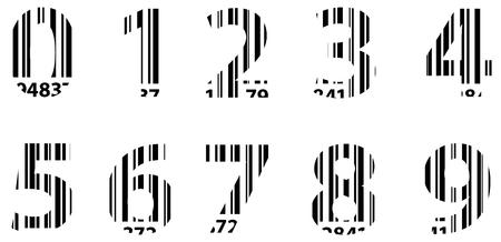 Business Bar Code Alphabet Numbers Vector