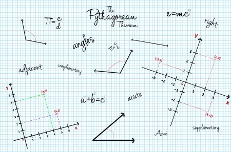 schulklasse: Mathematical School Class Hintergrund