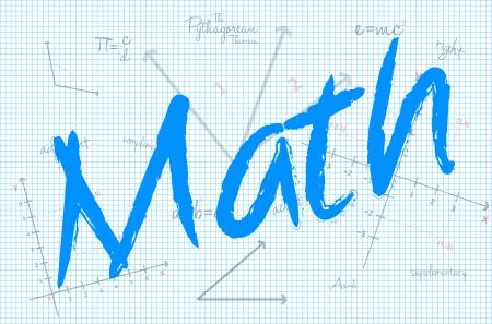 学校の数学の授業  イラスト・ベクター素材