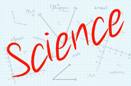 Science Word With Mathematics Background Vector