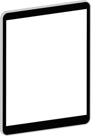 Black Business Tablet 3D Vector