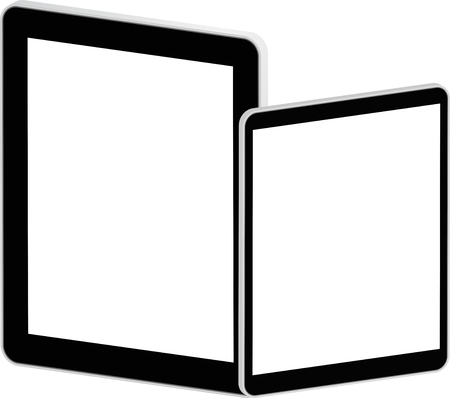 Black Business Tablets Stock Vector - 23122611