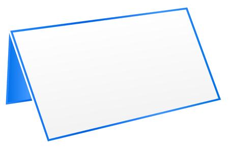 Blue Blank Table Tag Vector