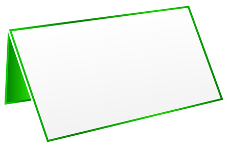Green Blank Table Tag Vector