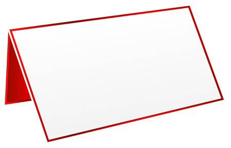 Red Blank Table Tag Vector