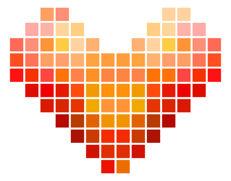 Mosaic Square Heart Stock Vector - 23239906