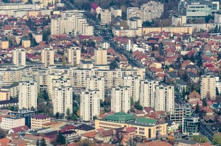 communistic: Brasov, Rumania - el 02 de noviembre Apartamentos comunistas en 02 de noviembre 2013 en Brasov, Ruman�a A partir de 1960 la tendencia de los bloques comunista fue seguida inmediatamente por todos los pa�ses comunistas de Europa del Este Editorial