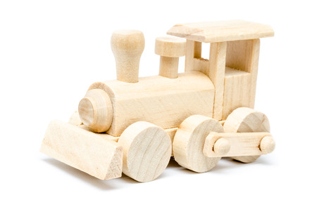 Railway Steam Engine Wooden Toy photo