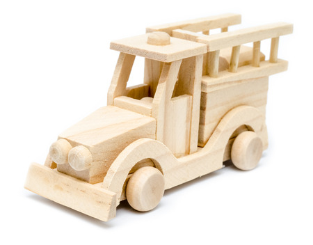 Firetruck Wooden Toy photo
