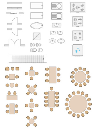 architectural elements: Standard Symbols Used In Architecture Plans Icons Set