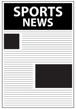 Sports News Newspaper First Page Template Vector