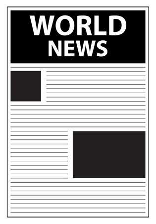 World News Newspaper First Page Template Stock Vector - 23884978