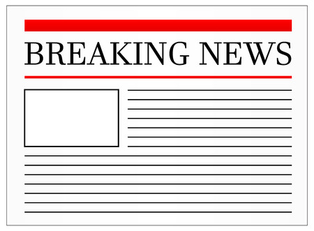 Breaking News Headline In Newspaper Vector Illustration Stock Vector - 23885089